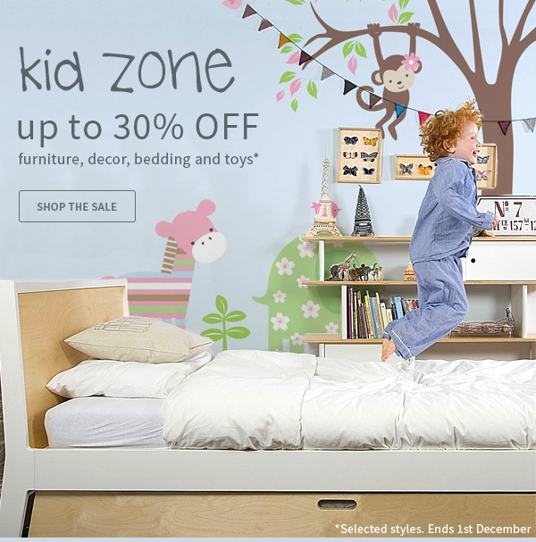 Save up to 30% off the baby & kids sale at Zanui.